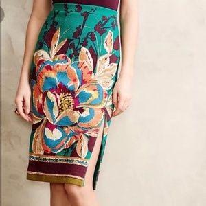 Anthropologie Maeve tapestry skirt